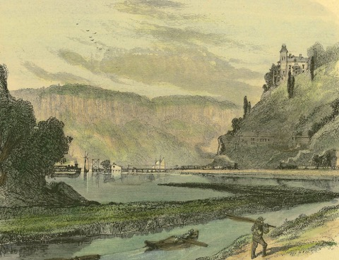 Spuyten Duyvil and the Palisades, 1870s. The BCHS Archives