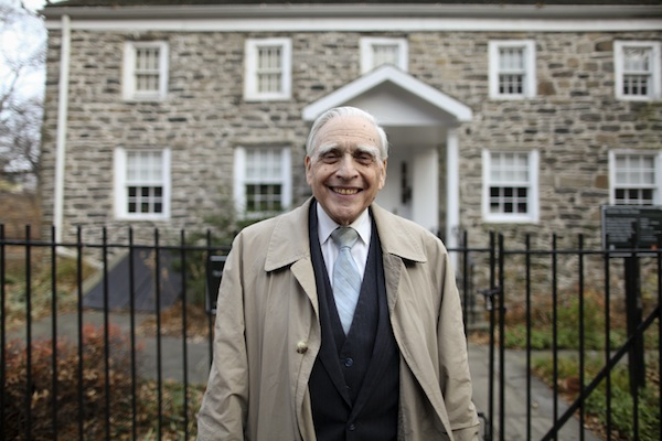 Lloyd Ultan, the official Bronx Borough Historian, stands before the Museum of Bronx History at the Valentine-Varian House. The house dates back to 1758.  Photo Credit - Luisa Conlon