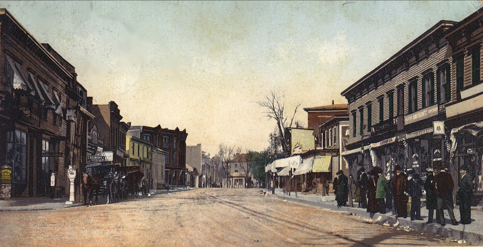 Main St. West 1906 credited BCHS
