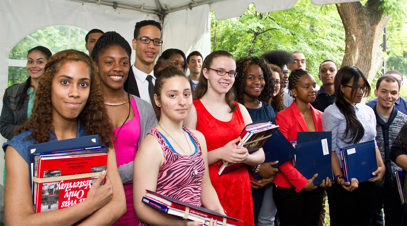 Last year's BCHS Valedictorian Day was a success! Students and their families braved the dismal weather to create a bright and enjoyable atmosphere on the grounds of the Museum of Bronx History.